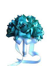 """8"""" Wedding Bouquet - USA Seller - Jade Open Rose Bouquet"""