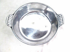 "Alloy Metal Vintage Silver-tone Tarnish Resistant Serving Dish Handles 7""diam"