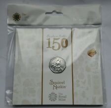 2016 Royal Mint Beatrix Potter Squirrel Nutkin 50p Fifty Pence BU Coin Pack -