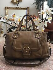 COACH CAMPBELL BROWN LEATHER SATCHEL CONVERTIBLE BAG PURSE F24690 $378 -RARE