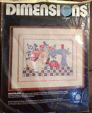 """Vintage 1984 Dimensions Crewel Needlepoint 18"""" x 14"""" Kit """"Nostalgia"""", #1274, NIP"""