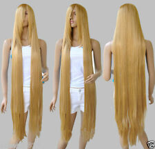 100cm' Long Rapunzel Tangled Light Golden Blonde Straight Cosplay Wig