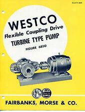 """Vintage """"WESTCO"""" Sales Brochure: TURBINE PUMP Model 6850"""