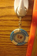 TEXAS HOLDEM PRO SERIES $50.VEGAS Style Casino Poker Chip Key Ring FOB