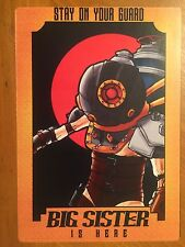 Tin Sign Vintage Metal Bioshock Stay On Your Guard Big Sister Is Here