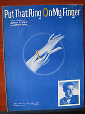 Put That Ring On My Finger -1945 sheet music - vocal, piano, guitar chords