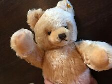 VINTAGE STEIFF MOHAIR WOOL JOINTED TEDDY BEAR BUTTON EAR 15 IN. GROWLER