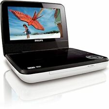 "Philips PET741W/37 White/Black Widescreen 7"" LCD Car/Home Portable DVD Player -C"