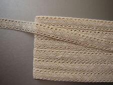 PROMOTION : Dentelle du Puy ancienne, 10 mètres, largeur 15 mm, écru, coton