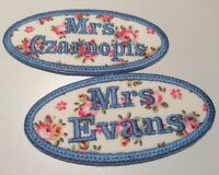 CATH KIDSTON FABRICS PERSONALISED OVAL TWO NAME PATCH BADGE