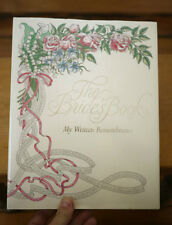 The Brides Book My Wedding Remembrance Wedding Guest Album Record Book Blank