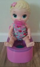 CUTE PURPLE PINK POTTY CHAIR AND  NEON PACIFIER TO USE  FOR BABY ALIVE DOLLS.