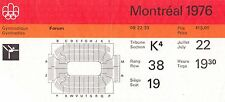 1976 Olympic GYMNASTIC TICKET - NADIA COMANECI - DOUBLE GOLD MEDAL