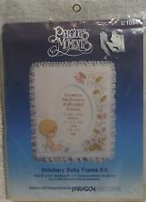 NEW PARAGON NEEDLECRFT STITCHERY KIT PRECIOUS MOMENTS BABY FRAME ANNOUNCEMENT T2