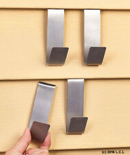 Set 4 Vinyl Siding Clips Fastener Hangers Hanging Decoration Wall Hooks Metal