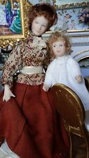 Dollhouse Miniature Artisan Governess Child Doll Porcelain Renee Isabelle Chair