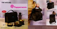 Tupperware Satchel Tiffin Lunch Box Best Trendy Classic Executive Black