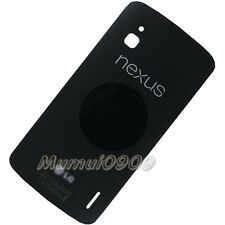 Original Back Battery Cover Glass+Adhesive Sticker For LG Nexus 4 E960 Black