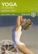 YOGA FOR BEGINNERS (DVD) workout Patricia Walden hatha focus stretch relax NEW