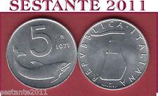 A25  ITALY ITALIA  REPUBBLICA ITALIANA  5 LIRE 1971  KM 92  FDC/UNC  DA ROTOLINO