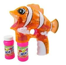 Light Up Fish Bubble Gun With Music - Nemo looking Clownfish LED Bubble Blaster