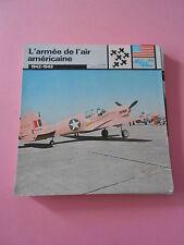 Guerre War 1942/43  Armée de l'air américaine d'égyptene Tunisei Fiche Card 1978