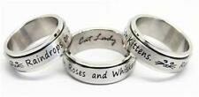 TOO CUTE! Cat Lady Raindrops on Roses and Whiskers on Kittens Spinner Ring Sz 9