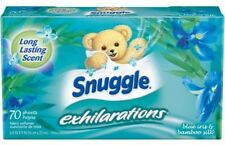 Snuggle Exhilaration Dryer Fabric Softner Sheets, Blue Iris Lasting Scent, 70 Ct
