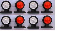 8x LED SIDE MARKER LAMPs LIGHT WHITE RED 12V for TRAILER TRUCK LORRY BUS CHASSIS