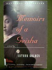 MEMOIRS OF A GEISHA ARTHUR GOLDEN 1997 SOFTCOVER