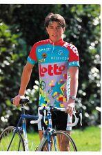 CYCLISME carte cycliste MARIO DE CLERCQ équipe LOTTO caloi mavic 1993