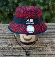 NWT Nike Air Jordan Jumpman Stencil Bucket Hat [658386 010] BLACK/RED SIZE L/XL