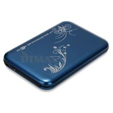 "Blue USB 2.0 2.5"" SATA HD Hard Drive Disk Case Box Enclosure External for Laptop"