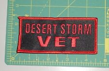 Embroidered Patch - Desert Storm VET - Red
