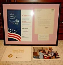 NASA Silver Snoopy Award Poster & 1984 Letter Signed Astronaut Robert L Stewart