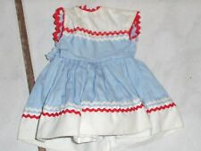 """12"""" ideal shirley temple blue and white tv box dress tagged Free Ship in US"""