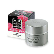 "ANTI AGE CREAM for Men ""Rose of Bulgaria"" 75ml with Natural Bulgarian Rose Water"