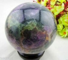100MM Glow In The Dark Natural Purple Fluorite Magic Crystal Healing Ball A