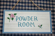 "Classic Country wood sign ""POWDER ROOM"" Great Nostalgic bathroom decor"