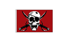 NEW Red Skull Bicycle Safety Flag 12 x 18 inch long with Axle Mounting Bracket