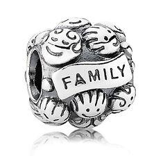 Original PANDORA Silber Element 791039 Charm FAMILIENLIEBE