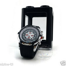 NEWEST Resident Evil Umbrella Corporation logo quartz Men watch Wristwatch charm