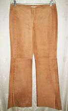 New JEWELS By JULIE KNAPP Tan Suede Laced Western Pants L 8 x 33 $295