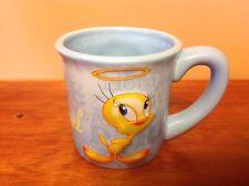TW & Warner Brothers Tweety Bird Coffee Mug Tea Cup 99% Angel Blue Yellow 24 Oz