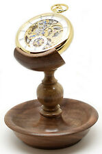 English Walnut Single Stem Hand Made Pocket Watch Stand (Watch not included)A41w