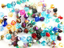 Wholesale 100-1000pcs Crystal Glass Faceted Bicone Spacer Beads Findings 6mm