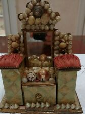 Antique victorian shell art miniature dresser from England, very good condition