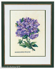 Eva Rosenstand Kit Point Compté Rhododendron-Counted Cross Stitch Kit Flower