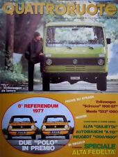 Quattroruote 264 1977 'TL' VW da lavoro. Nuova Giulietta e A112. VW Scirocco Q94