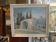 """Huile sur toile d'un paysage provencal , """"La chapelle au Brusc""""  , dans le Var"""